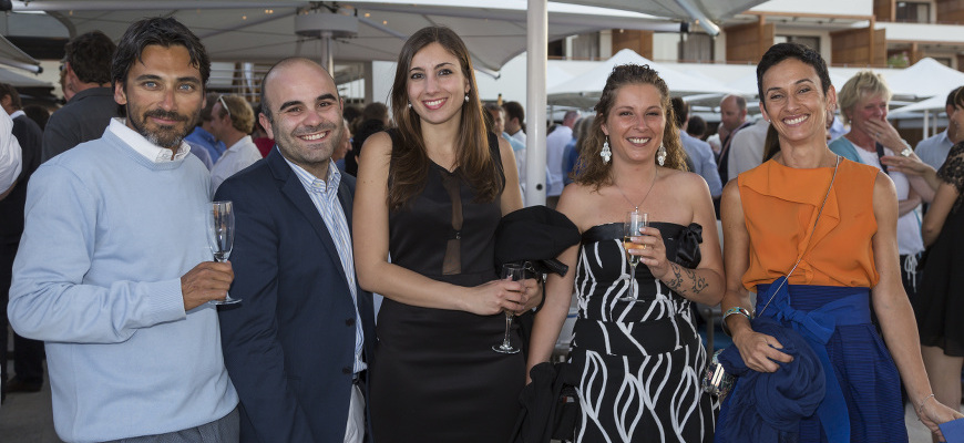 Il team di Cantiere Savona al Welcome Cocktail Party,Loro Piana Regatta